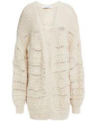 IRO Crochet-knit Cotton Cardigan - Natural