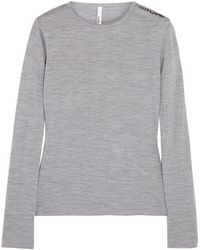 Mover - - Merino Wool-jersey Top - Stone - Lyst