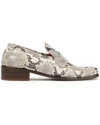 BY FAR - Britney Snake-effect Leather Loafers Animal Print - Lyst