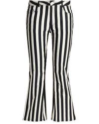 Marques'Almeida - Striped Duchesse-satin Kick-flare Trousers - Lyst
