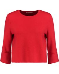 Maje - Cropped Textured-knit Jumper - Lyst