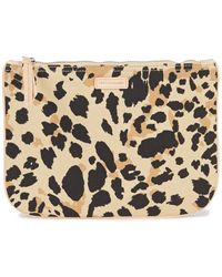 Zimmermann Floral-print Cotton-canvas Pouch Animal Print - Multicolour