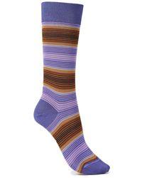 Marni Gestreifte Socken Aus Einer Baumwollmischung - Lila