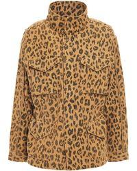 FRAME Leopard-print Cotton-canvas Field Jacket Animal Print - Multicolour