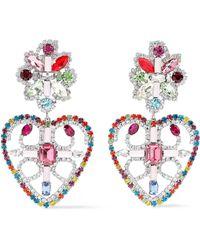 DANNIJO Silver-tone Crystal Earrings Multicolour - Metallic