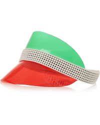 Monreal London - Ocean Drive Perforated Leather And Vinyl Visor - Lyst