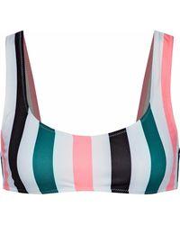 Solid & Striped - The Elle Striped Bikini Top - Lyst