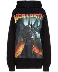 R13 Oversized Printed French Cotton-blend Terry Hoodie - Black