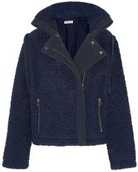 See By Chloé See By Chloé - Faux Shearling Coat - Navy - Blue