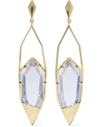 Noir Jewelry Gold-tone Crystal Earrings - Metallic