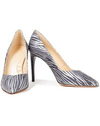 IRO Metallic Zebra-print Leather Court Shoes - Multicolour