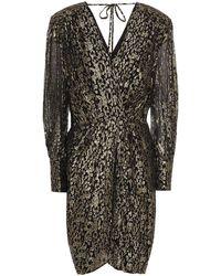 10 Crosby Derek Lam - Wrap-effect Metallic Fil Coupé Silk-blend Chiffon Mini Dress - Lyst