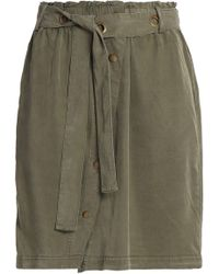 Splendid - Twill Mini Skirt Army Green - Lyst