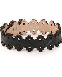 Zimmermann Laser-cut Leather Bracelet - Black