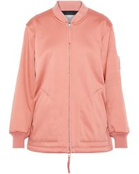 T By Alexander Wang Oversized Shell Bomber Jacket Antique Rose - Pink