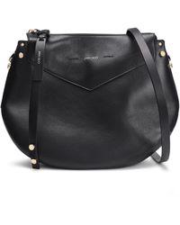 Jimmy Choo Artie Leather Shoulder Bag Black