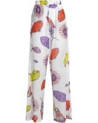 Emilio Pucci - Printed Gauze Wide-leg Trousers - Lyst