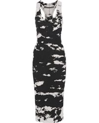 Enza Costa - Tie-dyed Cotton-jersey Midi Dress - Lyst