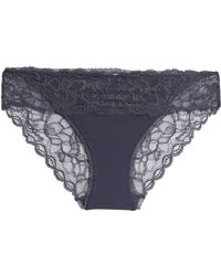 Calvin Klein - Lace-paneled Stretch-jersey Low-rise Briefs - Lyst