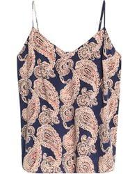 Stella McCartney - Printed Stretch-silk Pyjama Top - Lyst