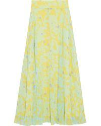 Diane von Furstenberg Tonnah Maxirock Aus Georgette Mit Floralem Print - Mehrfarbig