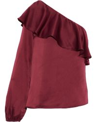 Cami NYC - One-shoulder Silk-satin Top - Lyst