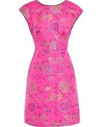 Etro Minikleid Aus Brokat - Pink