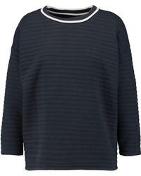 Petit Bateau Padded Cotton-blend Sweatshirt - Blue