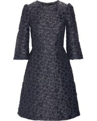 Co. - Flocked Metallic Jacquard Mini Dress - Lyst