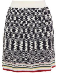 Missoni Plissierter Minirock Aus Häkelstrick Aus Wolle Größe 40 - White