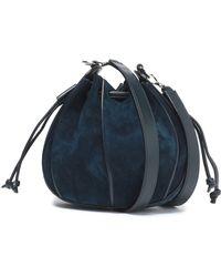 Jil Sander - Leather-trimmed Suede Bucket Bag - Lyst