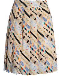 Marc Jacobs - Printed Silk Crepe De Chine Mini Skirt - Lyst