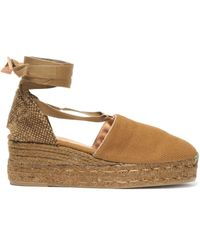 d4c14388d17 Castaner Campesina Striped Canvas Wedge Espadrilles in White - Lyst