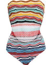 Missoni - Cutout Crochet-knit Swimsuit Sky Blue - Lyst