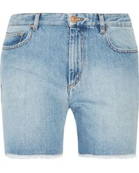 Étoile Isabel Marant - Cedar Frayed Denim Shorts - Lyst