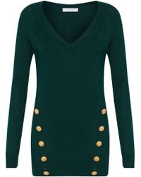Balmain - Button-detailed Ribbed-knit Sweater - Lyst