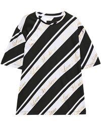 Love Moschino T-shirt Aus Baumwoll-jersey Mit Print In Metallic-optik Größe 40 - Black