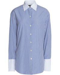 Rag & Bone - Striped Cotton And Silk-blend Shirt - Lyst