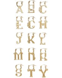 Ellery A-z Alphabet Vergoldete Ohrringe Größe F - Metallic