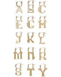 Ellery A-z Alphabet -plated Earring - Metallic