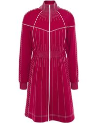 Valentino Zip-detailed Stretch-ponte Mini Dress Merlot - Red
