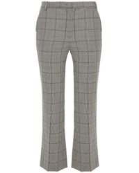 RED Valentino Prince Of Wales Checked Wool Kick-flare Trousers - Black