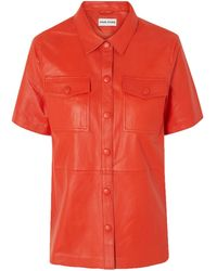 Stand Studio Danna Leather Shirt - Red