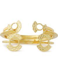 Noir Jewelry - Hammered Gold-tone Cuff - Lyst