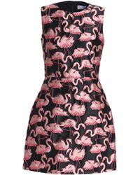 RED Valentino - Flared Brocade Mini Dress - Lyst