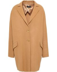 JOSEPH - Woman Wool And Cashmere-blend Coat Camel - Lyst