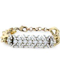 Iosselliani - Burnished Gold-tone Crystal Bracelet - Lyst