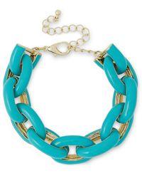 Kenneth Jay Lane Gold-tone Enamel Bracelet - Blue