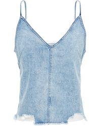 DL1961 Distressed Denim Camisole Light Denim - Blue