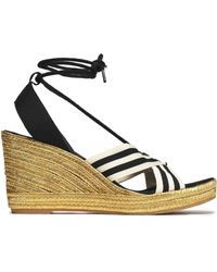 Marc Jacobs - Striped Grosgrain Espadrille Wedge Sandals - Lyst